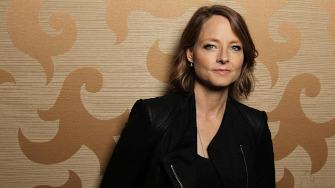 "FILE - In this July 13, 2012 file photo, actress Jodie Foster, from the upcoming film ""Elysium,"" poses for a portrait during Comic-Con, in San Diego. Foster is looking to cable TV as a future site for her Oscar-winning talent. She is drawn to direct personal stories that blend comedy and drama. (Photo by Matt Sayles/Invision/AP, File)"