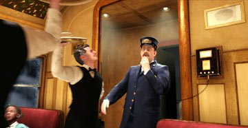 The Conductor ( Tom Hanks ) in Warner Bros. The Polar Express