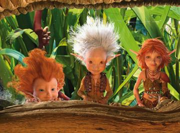 Betameche (voiced by Jimmy Fallon ), Arthur (voiced by Freddie Highmore ) and Princess Selenia (voiced by Madonna ) in The Weinstein Company's Arthur and the Invisibles