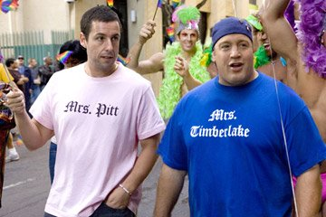 Adam Sandler and Kevin James in Universal Pictures' I Now Pronounce You Chuck & Larry