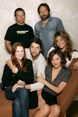 James LeGros, David Duchovny, Julianne Moore, director Bart Freundlich, Maggie Gyllenhaal and Eva Mendes 2005 Toronto Film Festival - 'Trust the Man' Portraits