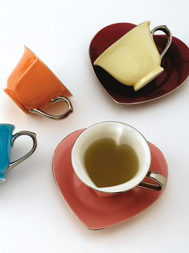 Inside Out Heart Tea Set