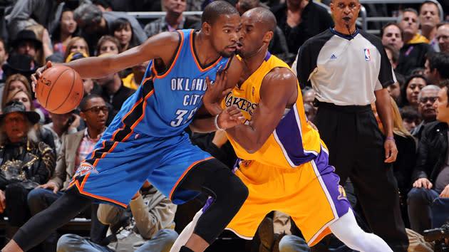 Kevin Durant and Kobe Bryant