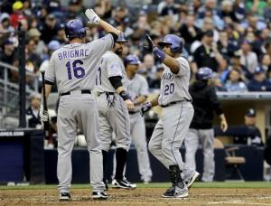 Rosario's 4 hits lead Rockies over Padres 9-5