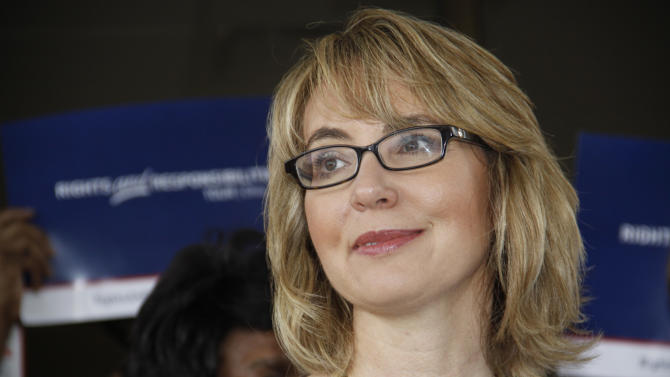 Ex-US Rep. Gabby Giffords attends NY gun show