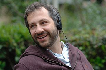 Producer Judd Apatow on the set of Columbia Pictures' Superbad