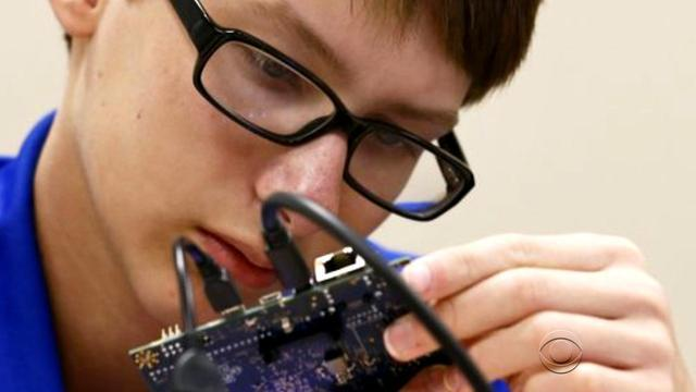 Young Intel inventor stuns with high-tech gadgets