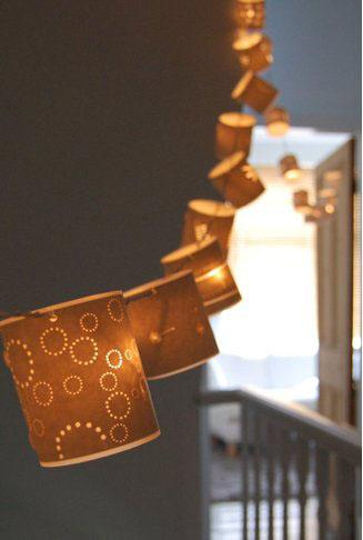 Fairy lights look instantly grown up when covered with a pretty shade. You can buy these cut out…