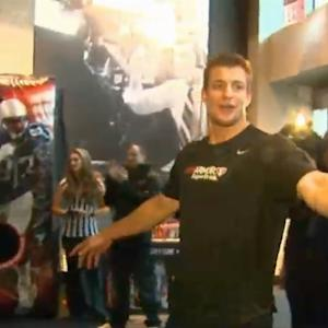 Patriots' Rob Gronkowski Puts On Spike Camp At CBS Scene