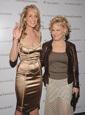 Helen Hunt and Bette Midler at the New York premiere of ThinkFilm's  Then She Found Me