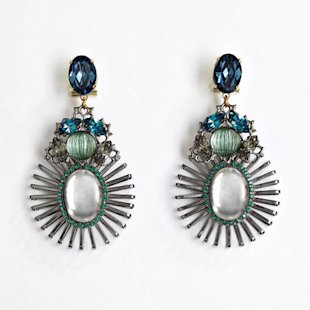 Chandelier earrings by Anton Heunis: Fashion: What To Wear: Night Out
