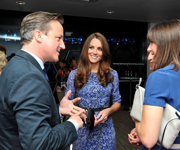 Kate must love her blue and purple Whistles dress! The Duchess of Cambridge recycles yet another dress at the Olympics Closing Ceremony on August 12, 2012. She first wore the $180 Bella dress to the D