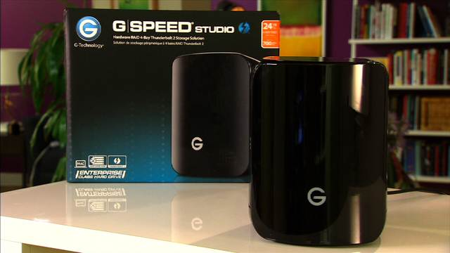 The G-Tech G-Speed Studio R is a super fast Thunderbolt II RAID system.