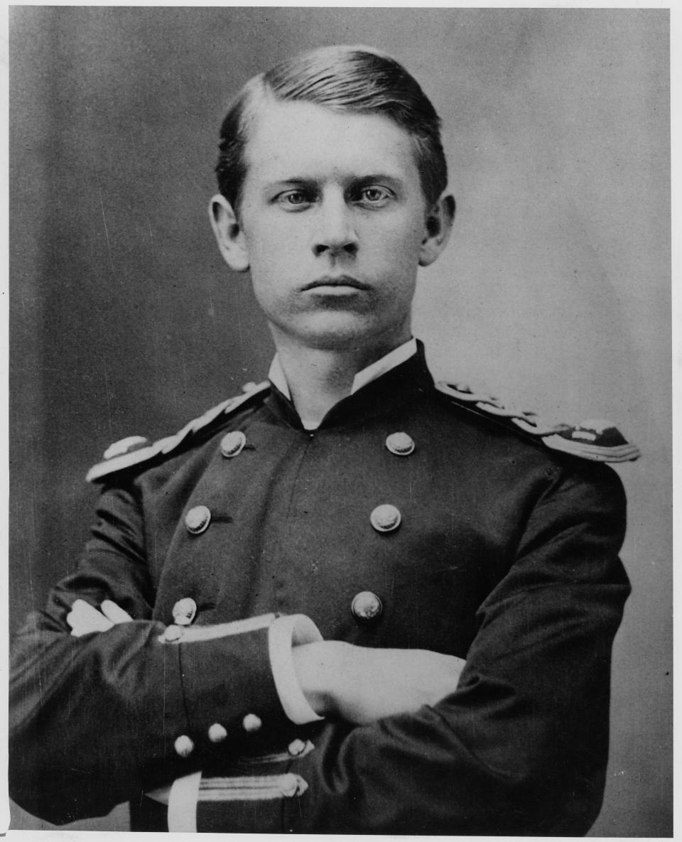 FILE - This file photo provided by the Walter Reed Army Medical Center, shows Major Walter Reed, circa 1875.  Walter Reed Army Medical Center, the military's flagship hospital where privates to presidents have gone for care for more than a century, is closing its doors. (AP Photo/Walter Reed Army Medical Center, ho)