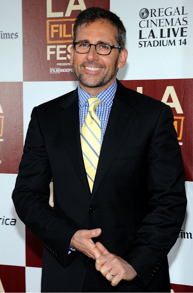 "Steve Carell at the LA Film festival premiere of "" Seeking a Friend For The End Of The World"". Love the shirt and tie combo!"