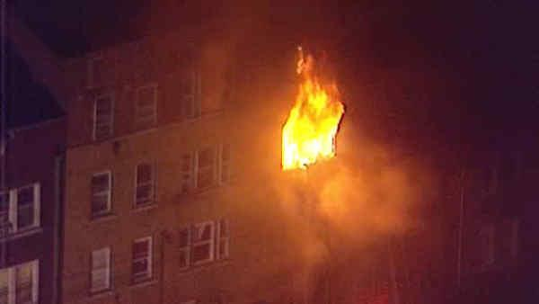 Four rescued from large blaze in Passaic, New Jersey