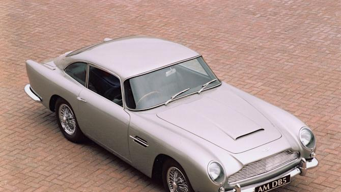 16.	DB5 (1963-1965) – The DB5 was an evolution of the DB4. The main development included a new 4.0 litre engine and the option of a five speed gearbox. The car was originally featured in Goldfinger and most recently Skyfall as James Bond's preferred car. Only 1059 examples were produced (AMHT)