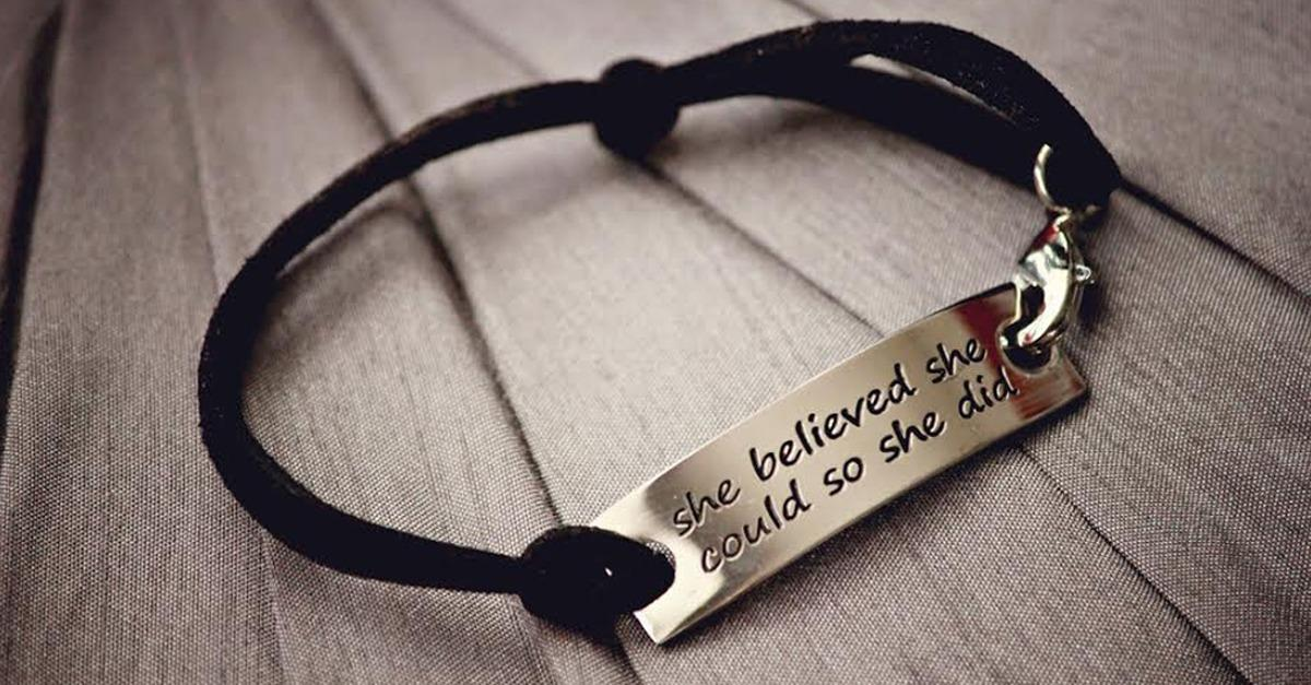 """""""She Believed She Could So She Did"""" - 91% Off -"""