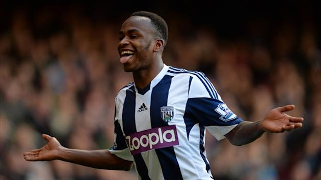 Saido Berahino celebrates scoring for West Brom (Getty)