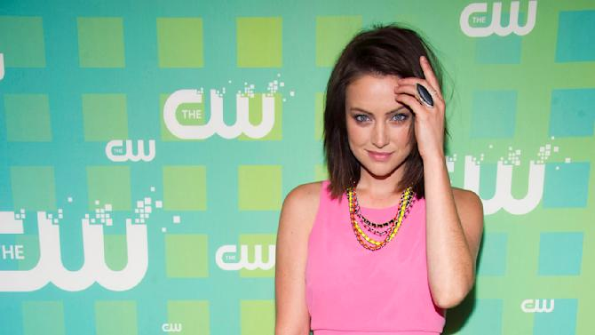 Jessica Stroup attends The CW Television Network's Upfront 2012 in New York, Thursday, May 17, 2012. (AP Photo/Charles Sykes)