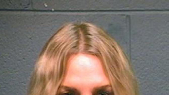 This booking photo provided by the Wood County Sheriff shows actress Daryl Hannah after her arrest in Winnsboro, Texas, Thursday, Oct. 4, 2012. Hannah has been arrested along with a 78-year-old northeast Texas landowner while protesting construction of a pipeline designed to bring crude oil from Canada to Gulf Coast refineries. (AP Photo/Wood County Sheriff)