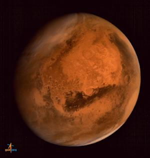 An image of the planet Mars taken by the India's…