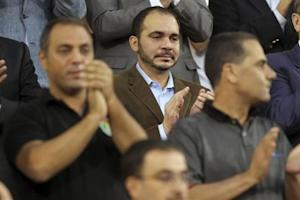 Jordan's Prince Ali attends Jordan's 2014 World Cup qualifying soccer match against Uzbekistan in Amman