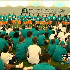Dolphins Host Special Olympics Clinic At Team's Training Facility