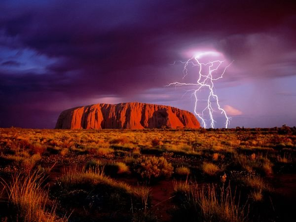 Ayers Rock in Uluru National …