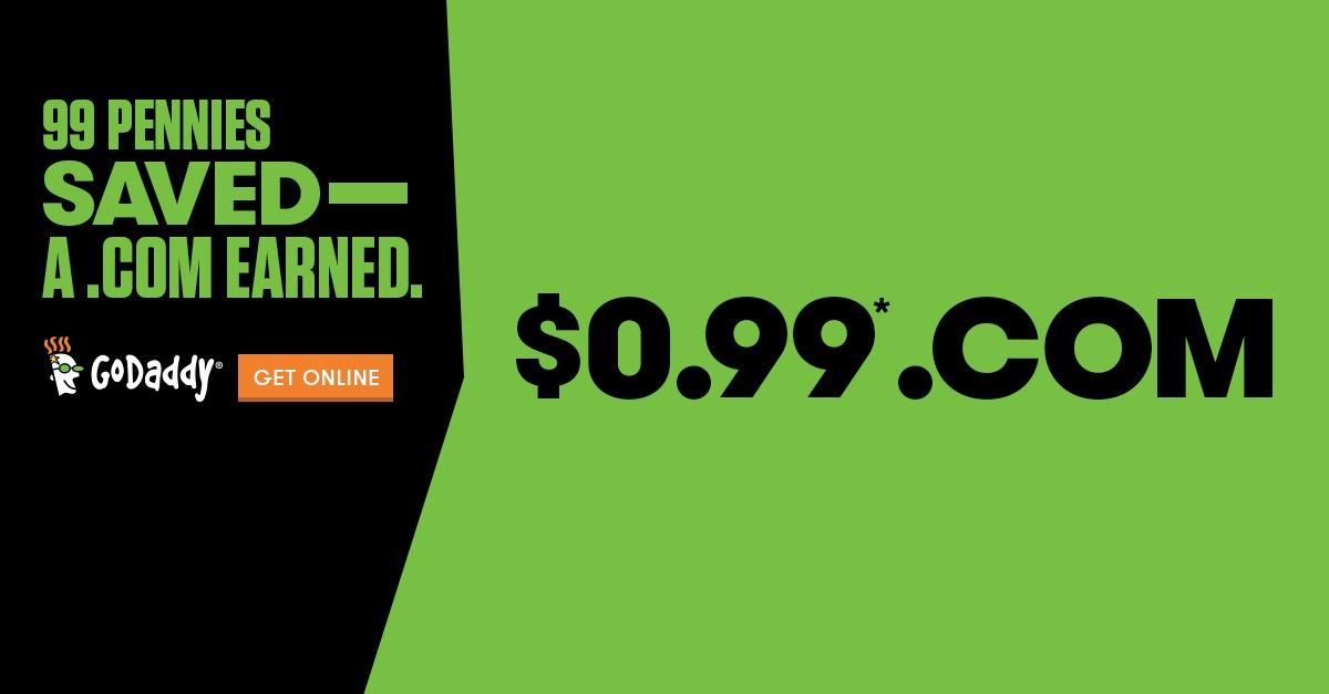 GoDaddy Now Offering $.99 Domains
