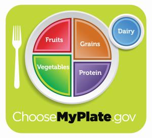 """This undated handout image provided by the Agriculture Department shows the department's new healthy eating symbol: My Plate. The Agriculture Department says its new healthy eating symbol _ called """"My Plate"""" _ will show Americans that nutrition doesn't have to be complicated. (AP Photo/Agriculture Department)"""