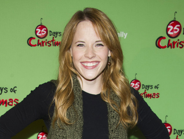 "FILE - This Dec. 4, 2011 file photo shows actress Katie Leclerc attends ABC Family's ""25 Days of Christmas"" Winter Wonderland party at Rockefeller Center in New York. Leclerc stars as a deaf teen on the ABC Family drama, ""Switched at Birth."" (AP Photo/Charles Sykes, file)"