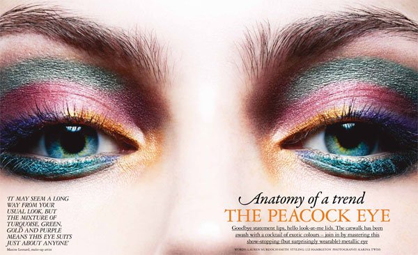 Trend Tuesday: WATCH Our 'How To' Video And Try The 'Peacock Eye' From This Week's Issue