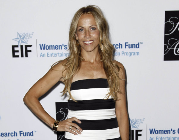 "FILE - This April 18, 2012 file photo shows musician Sheryl Crow at the Entertainment Industry Foundation's ""Unforgettable Evening"" in Beverly Hills, Calif. On Tuesday, Aug. 14, 2012, Superior Court Judge James K. Hahn granted Crow and film executive Harvey Weinstein a three-year restraining order against Philip Sparks, 45, who allegedly threatened to shoot them. (AP Photo/Matt Sayles, file)"