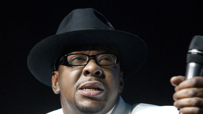 """FILE - In this Feb. 18, 2012 file photo, singer Bobby Brown performs with New Edition at Mohegan Sun Casino in Uncasville, Conn. Brown's new solo album """"Masterpiece"""" is due out on June 5, 2012. (AP Photo/Joe Giblin, File)"""