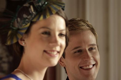Alice St. Clair plays Kate Middleton and Dan Amboyer plays Prince William