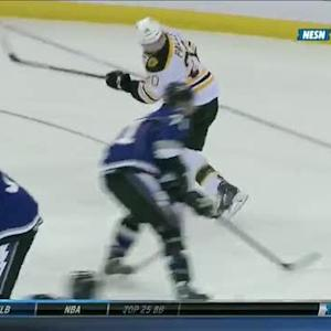 Paille scores on behind-the-back backhand
