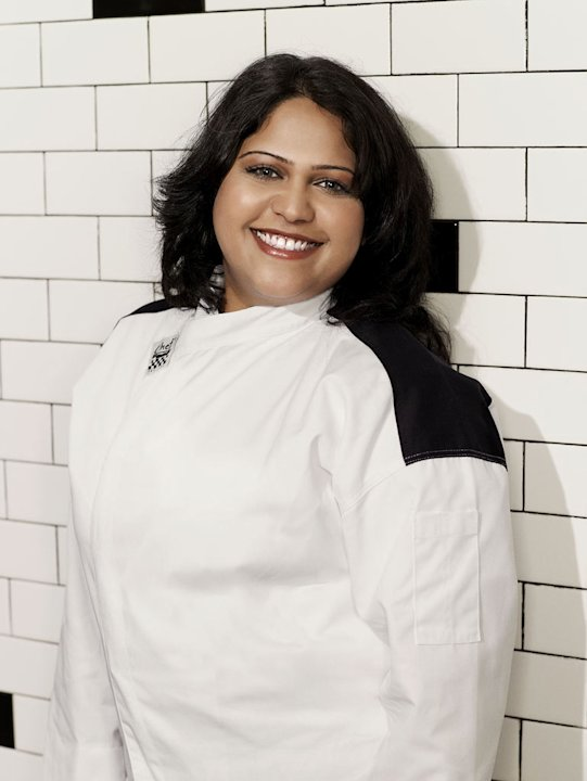 "Krupa Patel (Queens, NY) is a contestant on the Red Team on the 9th season of ""Hell's Kitchen."""