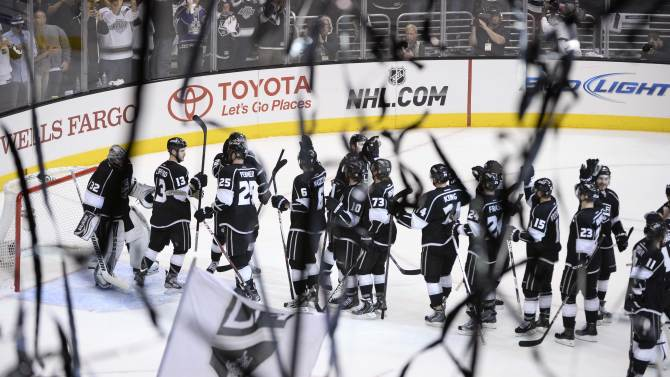NHL: Stanley Cup Playoffs-San Jose Sharks at Los Angeles Kings