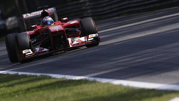 Ferrari Formula One driver Fernando Alonso of Spain drives during the first practice session of the Italian F1 Grand Prix at the Monza circuit September 6, 2013. (Reuters)