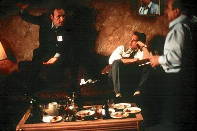 Kevin Spacey , Peter Facinelli and Danny DeVito in Lions Gate's The Big Kahuna