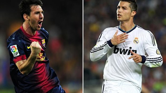 Saison 2012/2013: Lionel Messi (l.), Cristiano Ronaldo