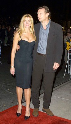 Natasha Richardson and Liam Neeson at the New York premiere of Miramax's Iris