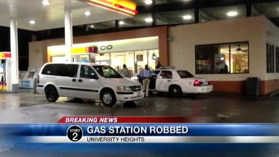 Gas station robbed at gunpoint overnight