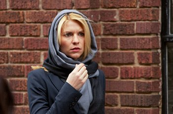 "Claire Danes plays a paranoid CIA agent on ""Homeland"" (Kent Smith/Showtime)"