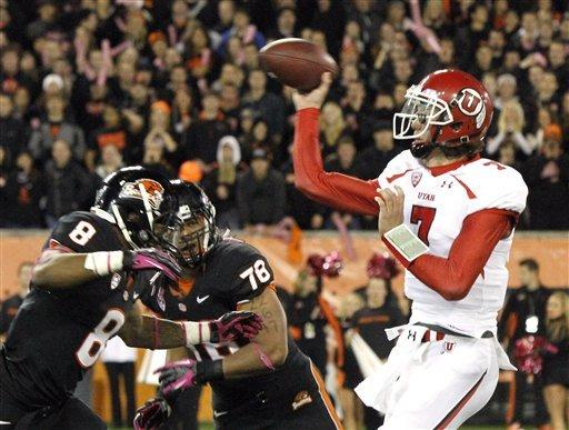 Defense leads No. 8 Oregon State past Utah 21-7