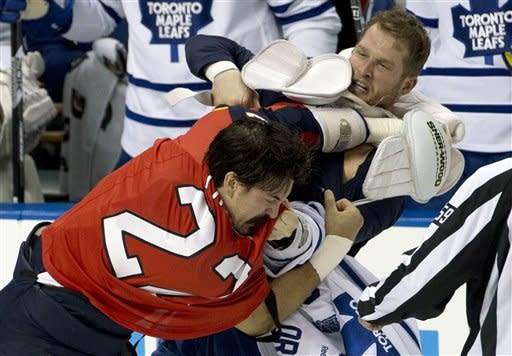 Scrivens gets shutout as Leafs beat Panthers 3-0