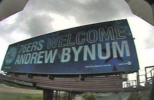 > Right after the big trade became official, Philly welcomed Andrew Bynum with a giant billboard - Photo posted in BX SportsCenter | Sign in and leave a comment below!