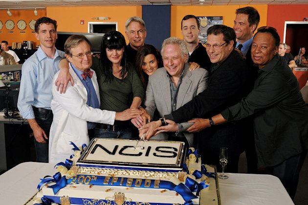 "Members of the cast and crew attend CBS' ""NCIS"" celebration of their 200th episode on January 3, 2012 in Valencia, California."