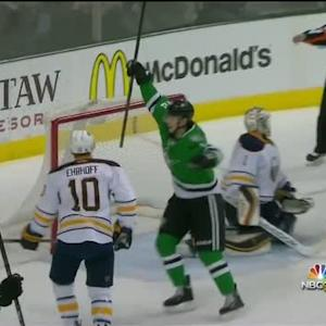 Chiasson's deflection gives Stars the lead